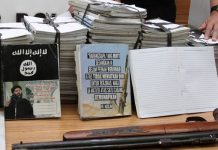 Seized islamic state material indonesia